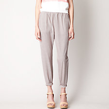 SAROUEL STRIPED TWILL PANT