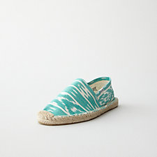 WOMENS HAND WOVEN IKAT ESPADRILLE SLIP ON