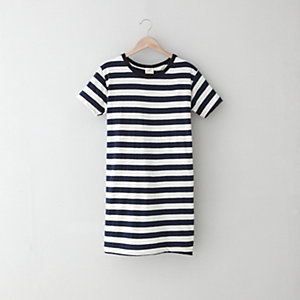 JERSEY STRIPED BOYFRIEND T-SHIRT DRESS