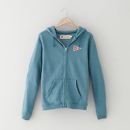WOMENS PENNANT ZIP-UP HOODIE