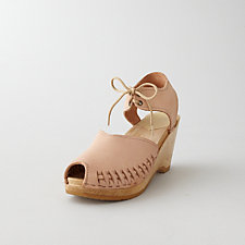 PEEP TOE MOCCASIN WEDGE SANDAL