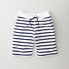 STRIPED SWEATSHORT