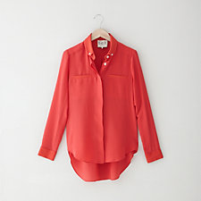 SILK CREPE BUTTON UP SHIRT