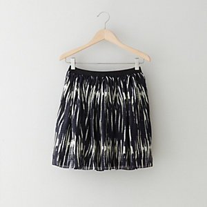 ELASTIC WOOD GRAIN SKIRT