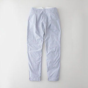 PEAK BACK CHAMBRAY TROUSER