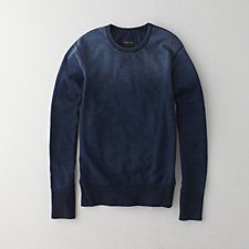 INDIGO LONG SLEEVE CREWNECK SWEATSHIRT
