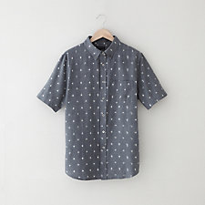 SHORT SLEEVE IKAT BUTTON DOWN SHIRT