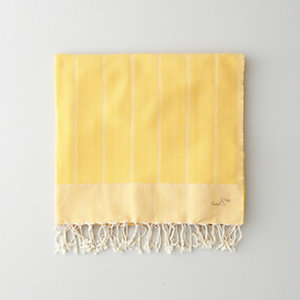 YELLOW HERRINGBONE FOUTA TOWEL
