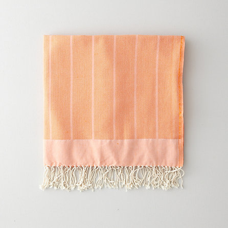 ORANGE HERRINGBONE FOUTA TOWEL
