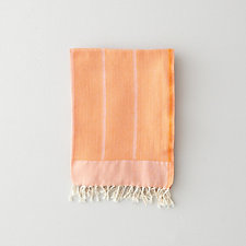 ORANGE HERRINGBONE GUEST TOWEL