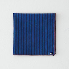 INDIGO STRIPE POCKET SQUARE