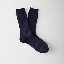 RIBBED CREW SOCK