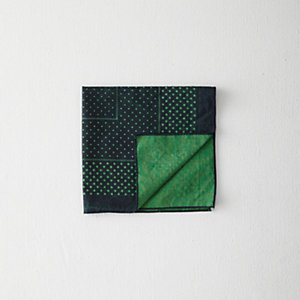 OVER-DYED DOTS HANDKERCHIEF