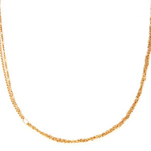 Gold Braided Chains Necklace