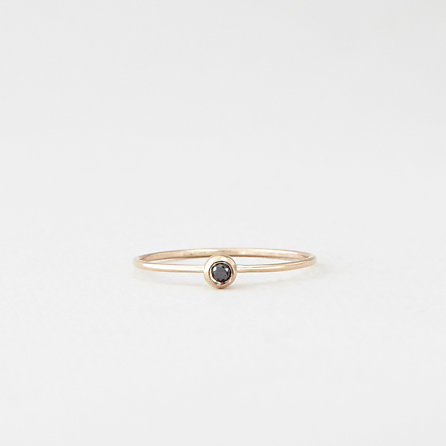 Black Diamond Seed Ring