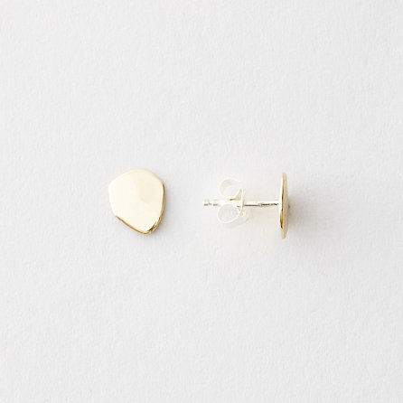 FLAT SEED STUDS YELLOW GOLD