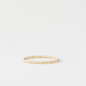 14k Gold Rope Ring