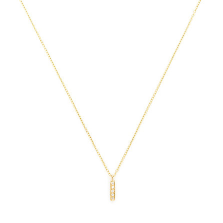 Rectangle Diamond Necklace