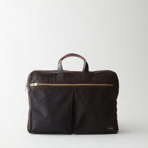 DUAL WAXED COTTON BRIEFCASE