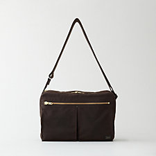 DUAL WAXED MESSENGER BAG