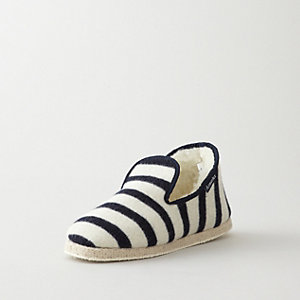 LAMES RAYES STRIPED WOOL SLIPPERS