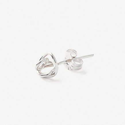 Silver Knot Stud