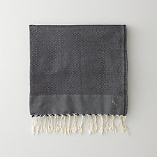 SOLID FOUTA TOWEL - BLACK