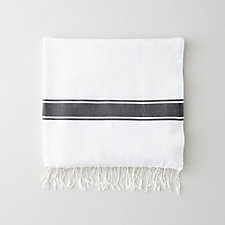 SOLID BIG STRIPE FOUTA TOWEL