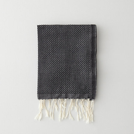 SOLID GUEST TOWEL - BLACK