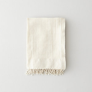 OFF-WHITE HERRINGBONE GUEST TOWEL