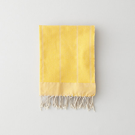 YELLOW HERRINGBONE GUEST TOWEL