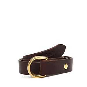 "Leather 1"" D-Ring Belt"