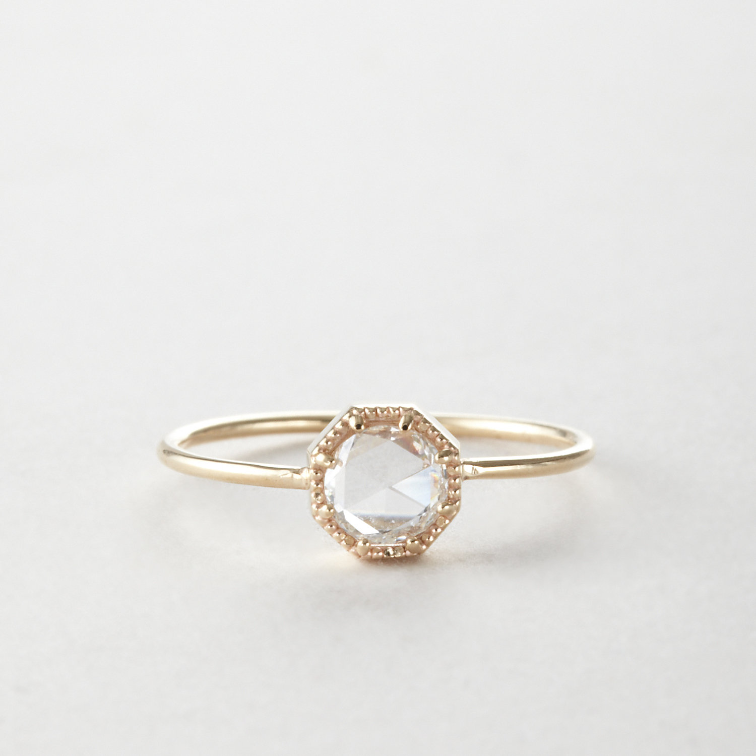 CROWN BEZEL RING