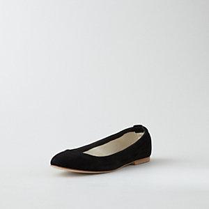Elastic Suede Ballet Flat