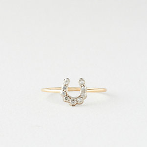 Horseshoe Ring with Diamonds