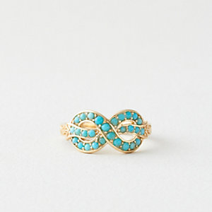Bow Ring with Turquoise