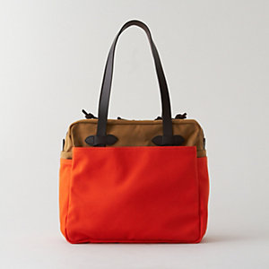 TWILL ZIP TOP TOTE BAG