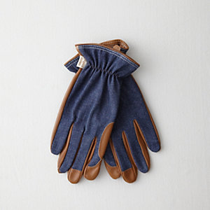 Denim Fabric Back Glove