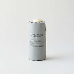 Lavender Sustainable Pillar Candle - Large