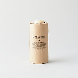 Vetiver Sustainable Pillar Candle - Large