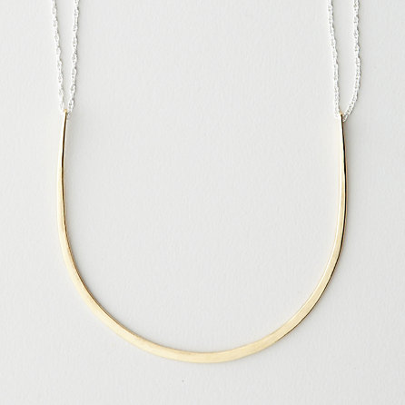 TWO-WAY ARC NECKLACE