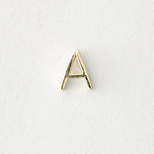 MINI LETTER STUD EARRING - A