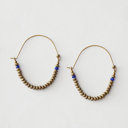 SANTA FE BEADED HOOP EARRING