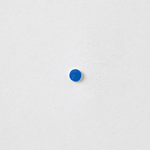 ENAMEL BLUE DOT STUD
