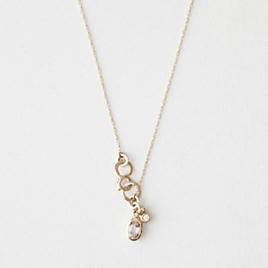 MORGANITE CHARM LARIAT NECKLACE