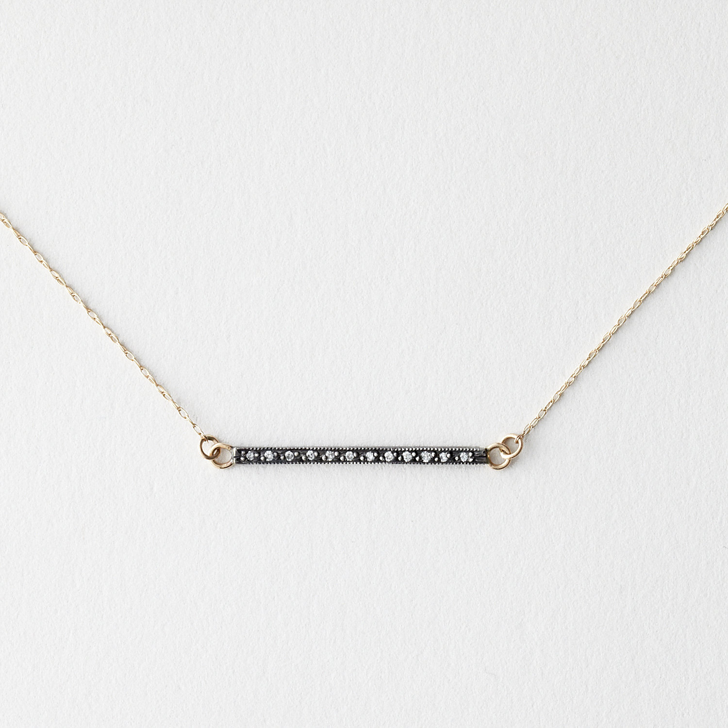 "1"" DIAMOND BAR NECKLACE"