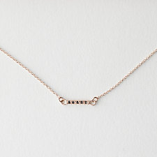 SMALL DAINTY BLACK DIAMOND NECKLACE
