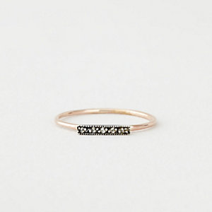 DAINTY STACKING DIAMOND BAR RING