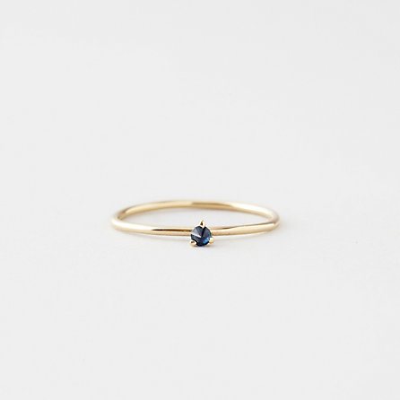 TINY SOLITAIRE RING WITH SAPPHIRE