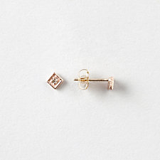 SQUARE FILIGREE DIAMOND STUDS